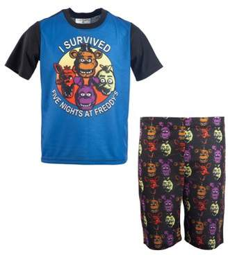 Five Nights at Freddy's Boys' Short Sleeve 2 Piece Pajama Sleep Set (Little Boy & Big Boy)