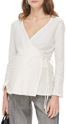 Topshop MATERNITY Wrap Fluted Top