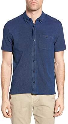 Michael Bastian Men's Short Sleeve Cotton Knit Shirt