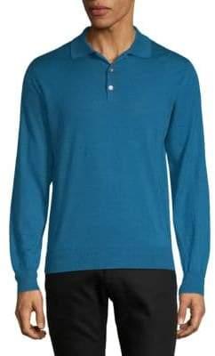 Brioni Cashmere Sik Polo Sweater