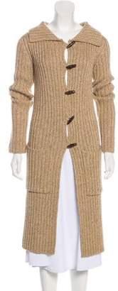Diane von Furstenberg Wool Rib-Knit Cardigan