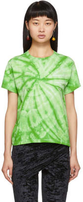 Collina Strada Green Tie-Dye Pierced T-Shirt