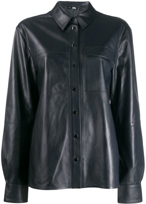 Karl Lagerfeld Paris button-up leather shirt