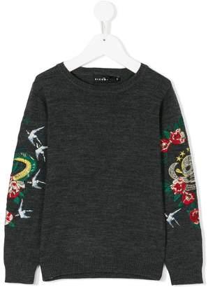 John Richmond Junior embroidered sleeve sweatshirt