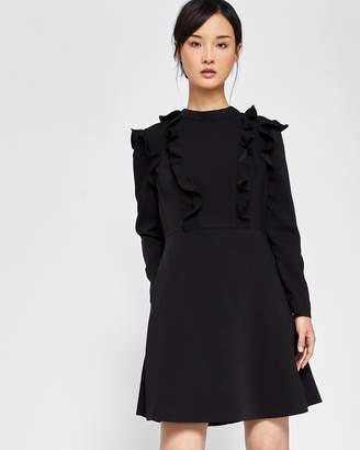91597ef1c Ted Baker FASHAL Long sleeve frill tunic dress