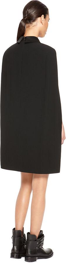DKNY Shiny Collar Cape Dress