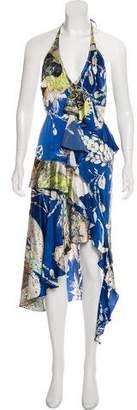 Just Cavalli Silk-Blend Printed Dress
