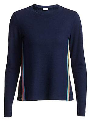 Akris Punto Women's Rainbow Tape Mesh Sweater