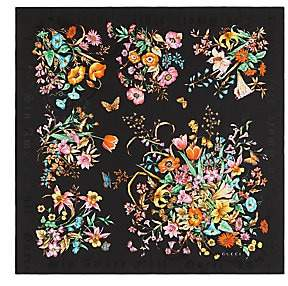 Gucci Women's Bouquet Jacquard Silk Scarf