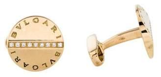 Bvlgari 18K Diamond Cufflinks yellow 18K Diamond Cufflinks
