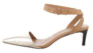 See by Chloe Metallic Ankle-Strap Pumps