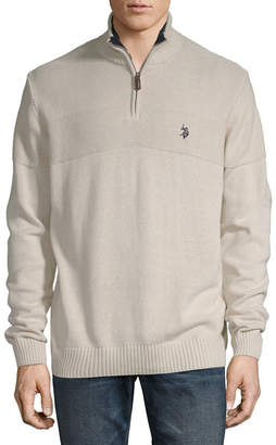 U.S. Polo Assn. USPA Mock Neck Long Sleeve Pullover Sweater