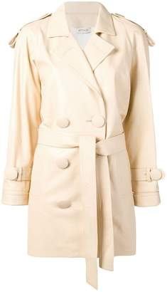 ATTICO oversized button trench coat