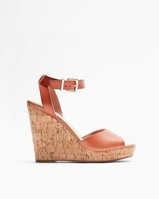 Express Cork Wedge Sandals