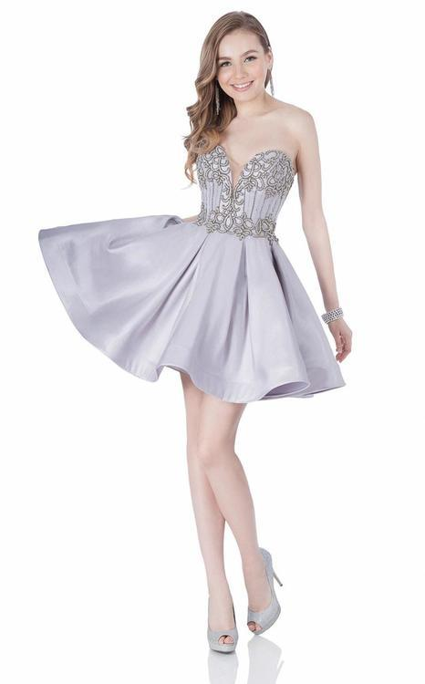 Terani Prom - Embroidered Strapless Prom Dress 1622H1156