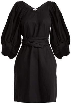 Apiece Apart Odesa Linen Blend Dress - Womens - Black
