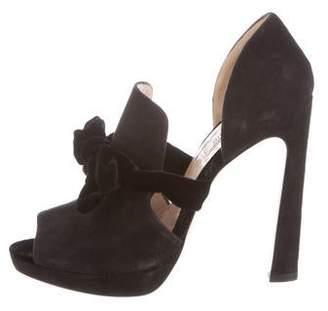 e4df2b00c421 Miu Miu Black Peep Toe Pumps - ShopStyle