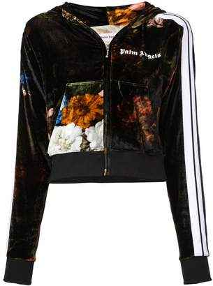 Palm Angels printed velvet bomber jacket