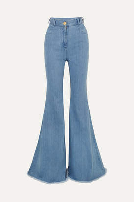 Balmain High-rise Flared Jeans - Light blue