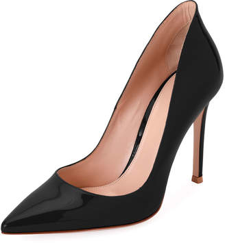 Gianvito Rossi High-Collar 105mm Patent Leather Pumps