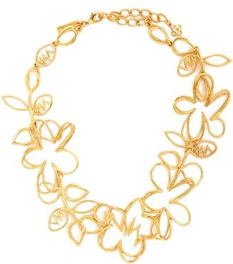 Oscar de la Renta Botanical Scribble Necklace - Womens - Gold