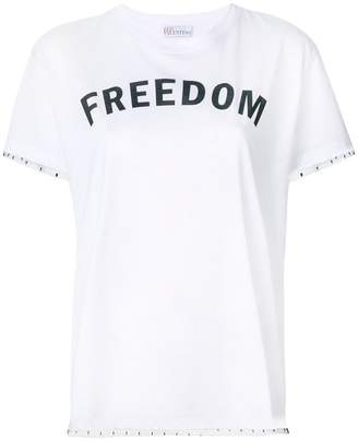 RED Valentino lace trim Freedom T-shirt