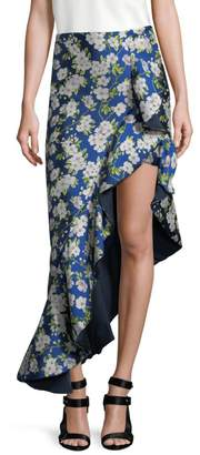 Alice + Olivia Lovetta Floral High Low Skirt