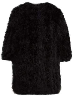Yves Salomon Feather Jacket - Womens - Black