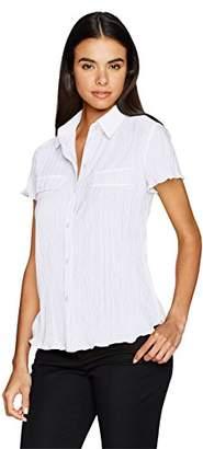 Jones New York Women's Pleated Shirt