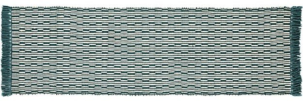 CB2Centipede Blue-Green Natural Wool Runner 2.5'x8'