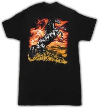 Sub Urban Riot Sub_Urban RIOT Horse Charlie Day Black Adult T-shirt Tee (Adult)