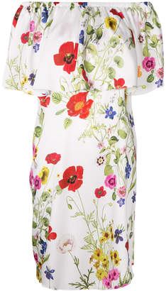 Blugirl floral off-shoulder dress
