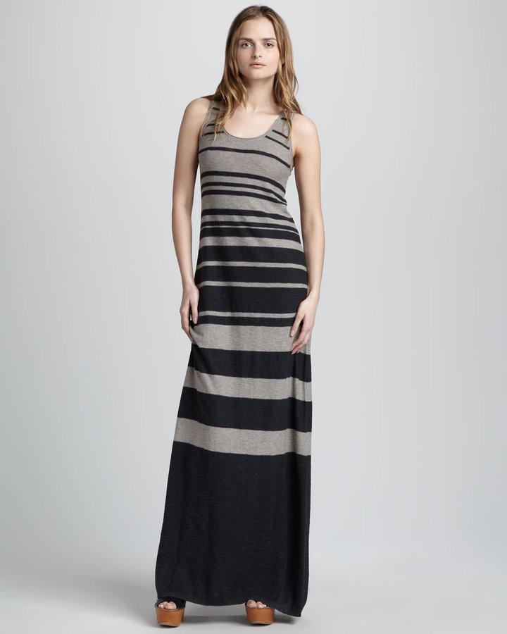 Vince Striped Slub Maxi Dress