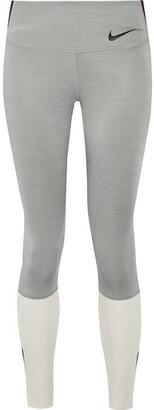 Nike Legendary Color-block Dri-fit Stretch Leggings - Gray