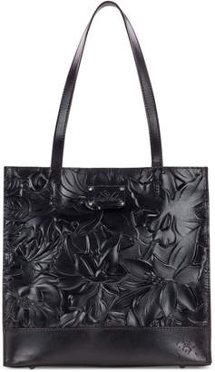 Patricia Nash Toscano Floral Embossed Leather Tote