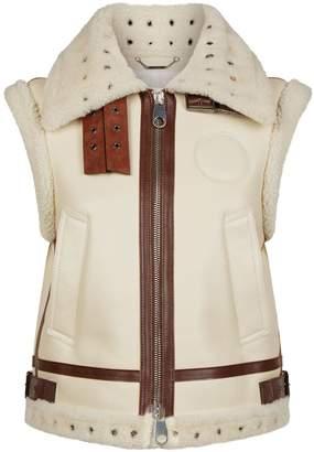 Chloé Sleeveless Aviator Jacket