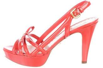 Prada Patent Leather Slingback Sandals