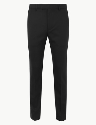 Marks and Spencer Black Textured Skinny Fit Trousers
