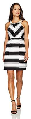 Adrianna Papell Women's Stripe Dress Petite