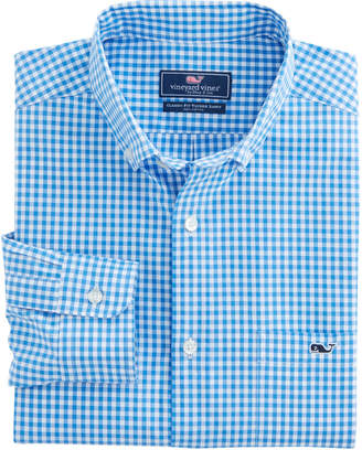 Vineyard Vines Seafloor Gingham Classic Tucker Shirt