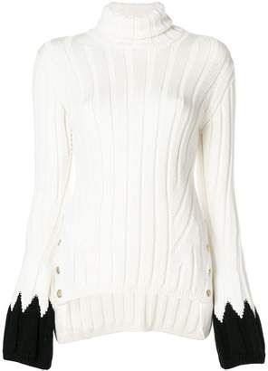 Alexander McQueen contrast cuff sweater