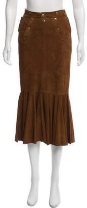 Ralph Lauren Suede Flared Skirt
