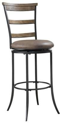 Hillsdale Furniture Charleston Swivel Ladder Back Bar Stool