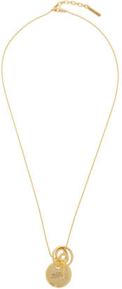 Marc Jacobs Gold The Medallion Pendant Necklace