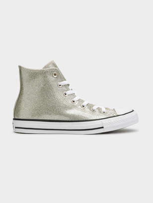 42eb23452d3e2e Converse Starry Night Chuck Taylor All Star High-Top Sneakers in Light Gold  Glitter