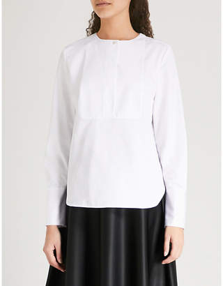 KITRI Margot cotton-poplin tuxedo shirt