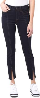 Liverpool Abby Front Slit Seamed Ankle Jeans
