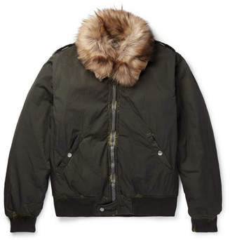 Our Legacy Tanker Faux Shearling-Trimmed Shell Bomber Jacket