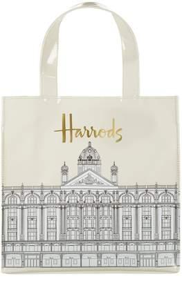 Harrods Small Illustrated Building Shopper Bag