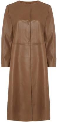 Max Mara Weekend Gioire Long Leather Coat